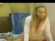Inexperienced Blondie Homemade Stripdance
