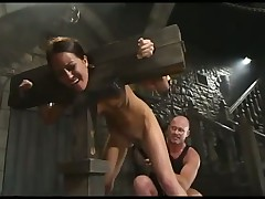 Brunette submits to BDSM session
