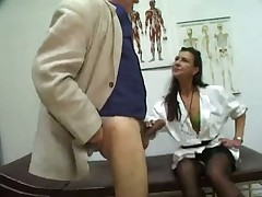 Blowjob Doctor gets cum sample