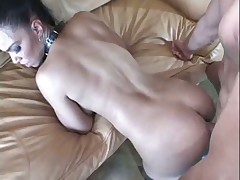 Girl in leather fucked in the ass