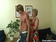Hot guy bangs lonely granny