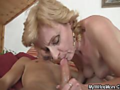 Horny man drills her GF's mom pussy
