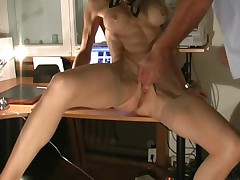This blonde loves fisting and hard sex