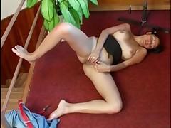 Ally masturbates in her office