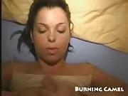 Working my girlfriend's tight anal crack