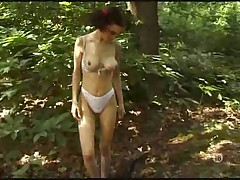 Arab in the woods fucked in her cunt