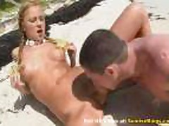 Sex on the beach with blonde goddess