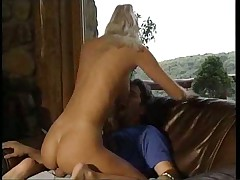Naked blonde girl is horny and fucked hard